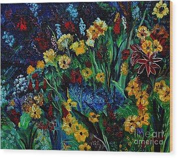 Moms Garden II Wood Print by Julie Brugh Riffey