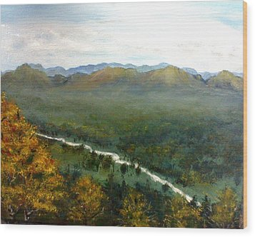 Wood Print featuring the painting Mom's Valley by J L Zarek