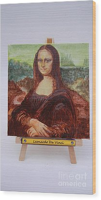 Wood Print featuring the painting Mona by Diana Bursztein