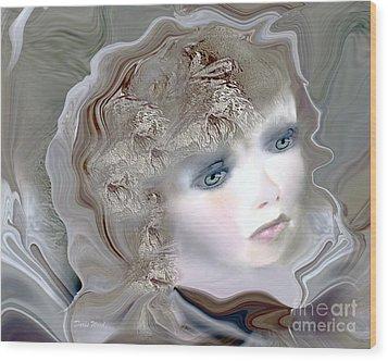 Mona Wood Print by Doris Wood