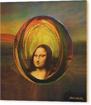 Mona Lisa Circondata Wood Print by Robin Moline