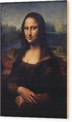 Wood Print featuring the painting Mona Lisa II by Karon Melillo DeVega