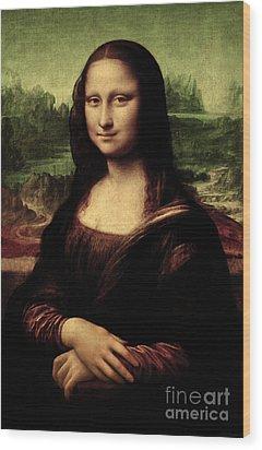 Mona Lisa Painting Wood Print