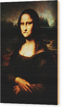 Mona Lisa Take One Wood Print by Bill Cannon