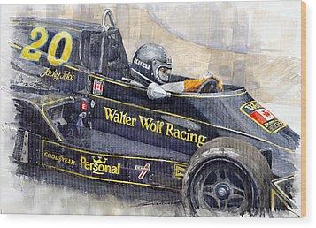 Monaco 1976 Wolf Wiliams Fw05 Jacki Ickx Wood Print by Yuriy Shevchuk
