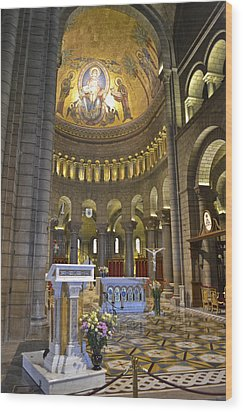 Wood Print featuring the photograph Monaco Cathedral by Allen Sheffield