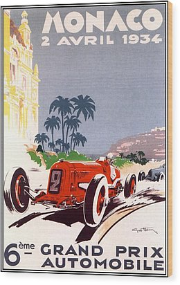 Monaco Grand Prix 1934 Wood Print by Georgia Fowler