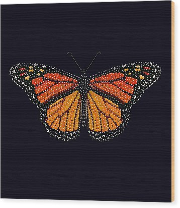Monarch Butterfly Bedazzled Wood Print by R  Allen Swezey