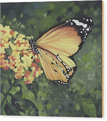 Monarch Butterfly Wood Print by Natasha Denger