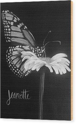 Monarch On A Daisy Wood Print