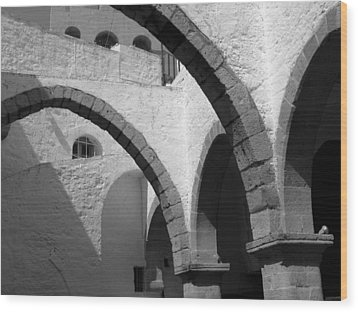 Monastery Arches Wood Print