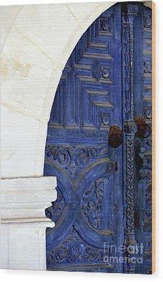 Monastery Door Wood Print by John Rizzuto