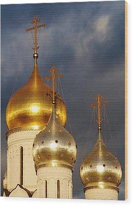 Monastery Wood Print by Julia Ivanovna Willhite
