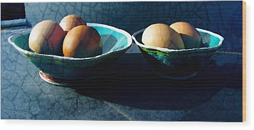 Monday Morning Blues Wood Print by Ann Powell