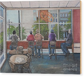 Mondays At Tim Hortons Wood Print by Reb Frost