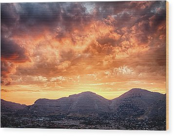 Mondello Sunset Wood Print by Viacheslav Savitskiy