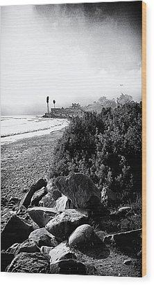Mondos Shoreline Wood Print by Ron Regalado