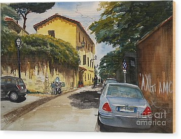 Monestero Foresteria Rome Wood Print