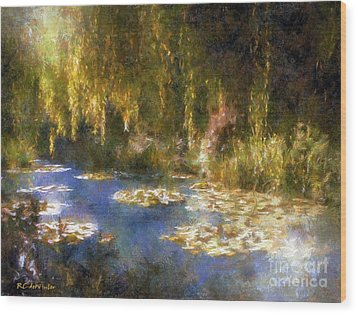 Monet After Midnight Wood Print