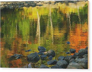 Monet Autumnal 02 Wood Print by Aimelle