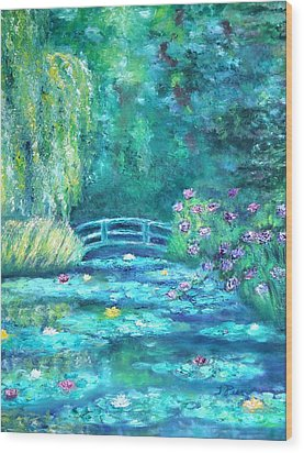 Monet Bridge Dream Wood Print