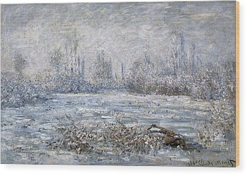 Monet, Claude 1840-1926. Frost Wood Print by Everett
