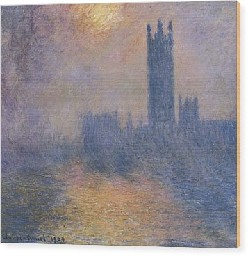 Monet, Claude 1840-1926. The Houses Wood Print by Everett
