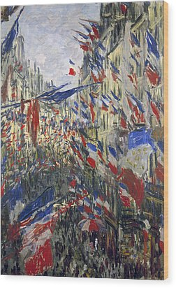 Monet: Montorgeuil, 1878 Wood Print by Granger