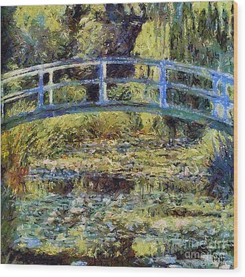 Monet's Bridge Wood Print by Dragica  Micki Fortuna