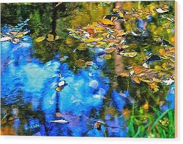 Wood Print featuring the photograph Monet's Garden by Ira Shander