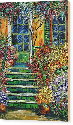 Monet's Giverny Oil Painting Wood Print by Beata Sasik