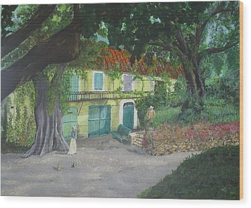 Monet's Home Wood Print by Hilda and Jose Garrancho