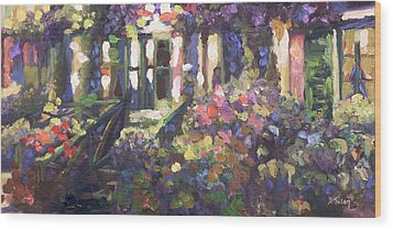 Monet's Home In Giverny Wood Print by Donna Tuten