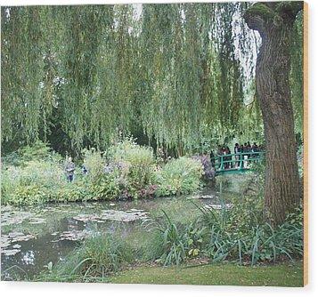Monet's Japanese Bridge Wood Print by Kristine Bogdanovich