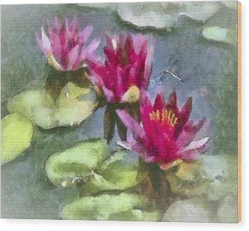 Monet's Muse Wood Print by Jill Balsam