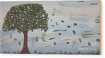 The Money Tree Wood Print
