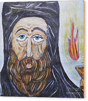 Monk 3 Wood Print by Sarah Loft