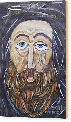 Monk 4 Wood Print by Sarah Loft