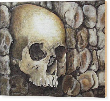 Monk Relic Wood Print by Elaine Booth-Kallweit