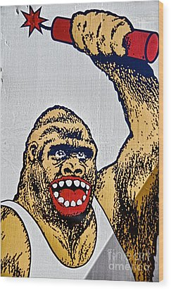 Monkey Around Wood Print by Ken Williams
