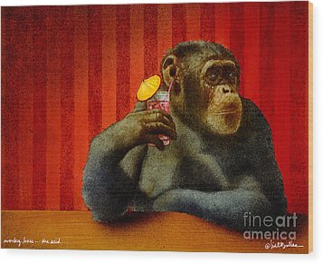 Monkey Bars...she Said... Wood Print by Will Bullas