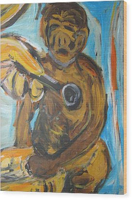 Monkey Doctor Wood Print by Patrick Humphreys