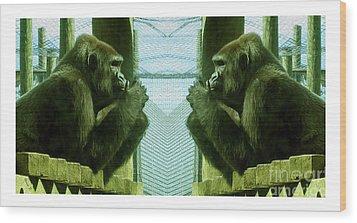 Monkey See Monkey Do Wood Print
