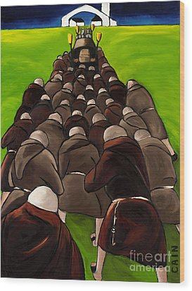 Monks Funeral Wood Print by William Cain