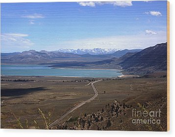 Mono Lake And The Sierra Nevada Wood Print by Thomas Bomstad