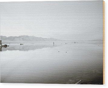 Mono Lake Serenity Wood Print by Shaun Higson