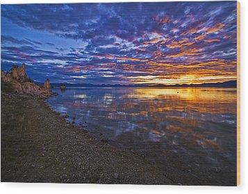 Mono Lake Sunrise Wood Print by Priscilla Burgers
