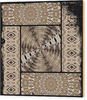 Mono Wood Print by Sylvia Thornton