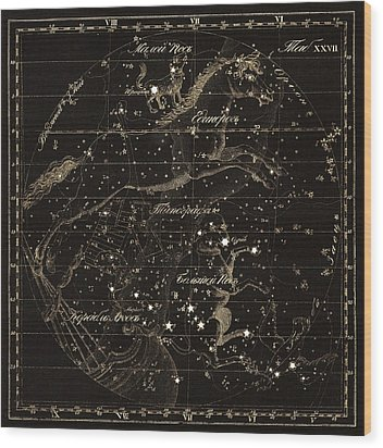 Monoceros Constellations, 1829 Wood Print by Science Photo Library