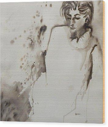 Monochrome Lady Wood Print